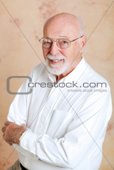 Portrait of Intelligent Senior Man