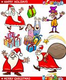 Cartoon Set of Christmas Themes