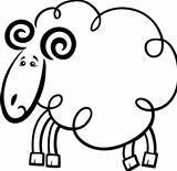 Cartoon ram for coloring book