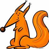 Cartoon Illustration of red squirrel