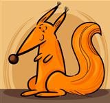 Cartoon Illustration of red squirrel