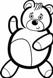 Cartoon Teddy Bear for Coloring