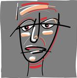 tribal painted face cartoon