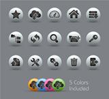 FTP & Hosting Icons // Pearly Serie