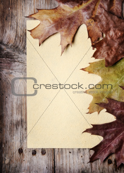 Vintage Paper and Autumn Leaves