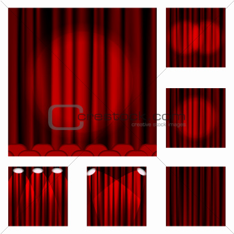 94 Red curtains