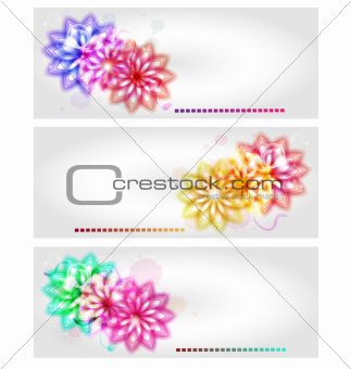 Abstract flower banners