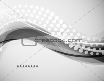 Grayscale wave background