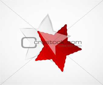 Abstract vector shiny star design elements
