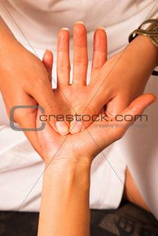Massaging a palm