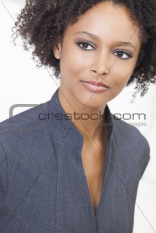 Beautiful Mixed Race African American Woman Businesswoman