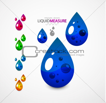 Liquid measure elements
