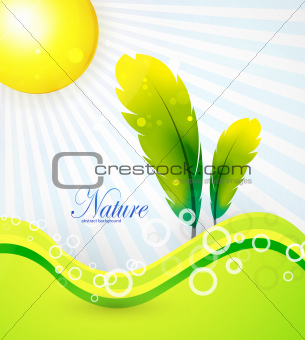 Abstract nature background tree
