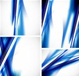 Abstract line background set
