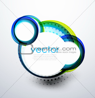 Abstract swirl circle banner