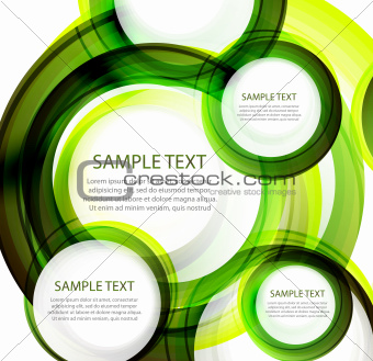 Green vector abstract swirl banner