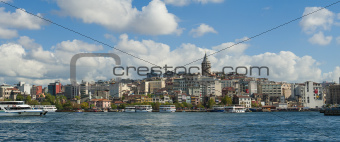 Cityscape over Bosphorus in Istanbul