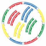 dynamic health hoop for fitness vector illustration
