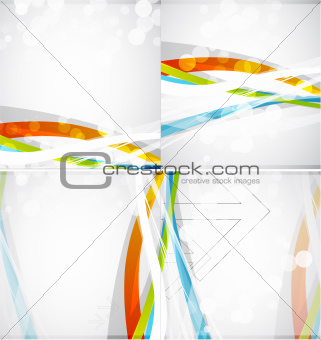 Abstract colored lines vector brochure