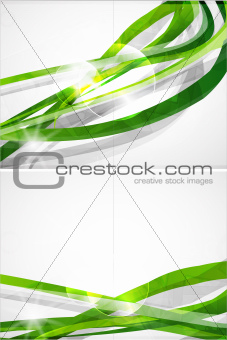 Abstract green lines vector brochure