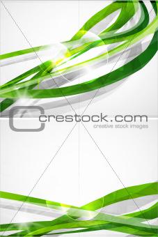 Abstract green lines vector brochure