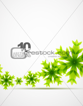 Green Christmas snowflakes