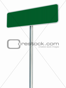 Blank Green Road Sign Isolated, Large White Frame Framed Roadsid