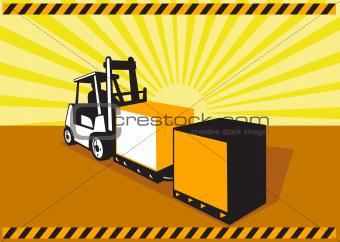 Forklift Truck Materials Handling Retro