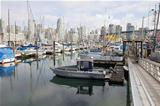 Harbor by Granville Island Bridge in Vcancouver BC