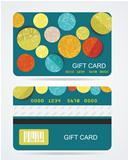Collection of gift cards with circles. Vector background