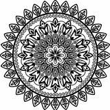 Geometric floral circle