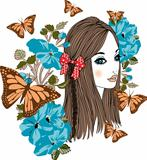 Butterfly girl