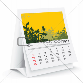 may 2013 desk calendar