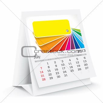 july 2013 desk calendar