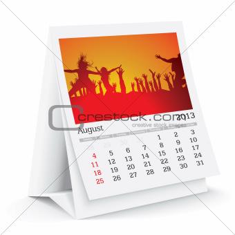 august 2013 desk calendar