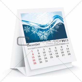 december 2013 desk calendar