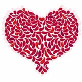 Large red romantic heart