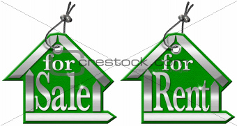 House Tag For Sale and For Rent - 2 Items