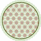 Christmas circle label