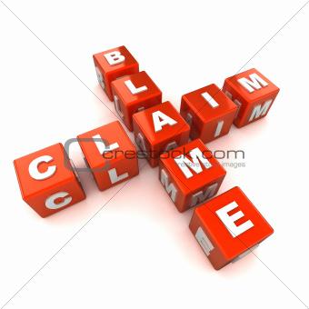 Blame Claim Crossword Concept