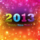 Colorful Happy New Year Poster