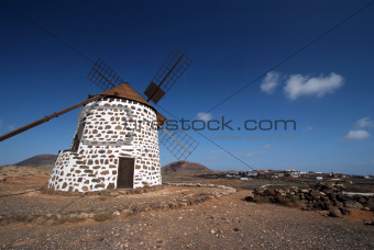 Old windmill in Villaverde, Fuerteventura, Canary Islands