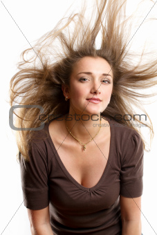 Woman With Wind in her Hair