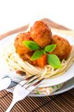 Spaghetti and meat ball