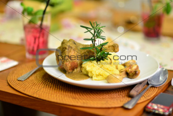Lamb Shank with Mashed Potato