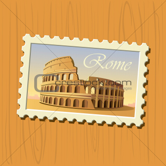 Rome colosseum stamp