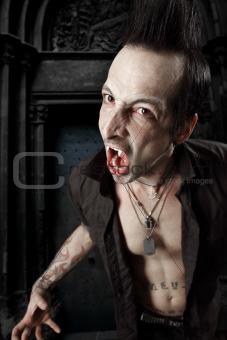 Blood sucking vampire