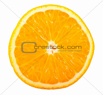 Slice of ripe orange