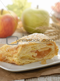 Slice Of An Apple Strudel