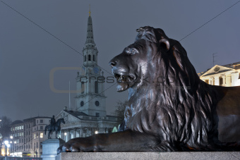 lion on trafalgar square